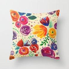 Summer Fruits Floral Throw Pillow