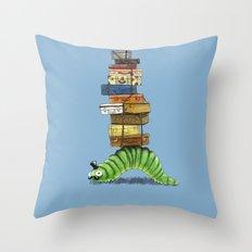 Monsieur Caterpillar Throw Pillow