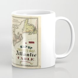Map of Trinity Bay, Telegraph Station of the Atlantic-Cable (1901) Coffee Mug