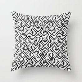 Chinese/Waves Throw Pillow