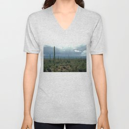 Arizona Desert and Cactuses Unisex V-Neck