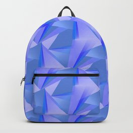 Blue Crystals Abstract Backpack
