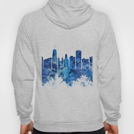 Akron Ohio Skyline Blue Hoody