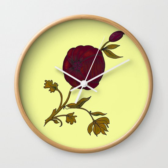 simple decorative pomegranate 3 Wall Clock