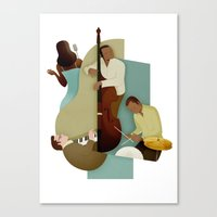 jazz Canvas Prints featuring Jazz by Andrew Lyons