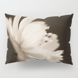 Cosmo - Sepia Flower Photography Pillow Sham