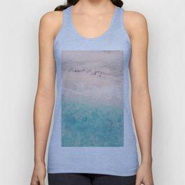 Aerial sea photography, exotic beach, fine art, wanderlust, coral reef, tropical landscape, summer Unisex Tank Top