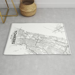 Minimal City Maps - Map Of Yonkers, New York, United States Rug