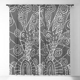 Black Peacock Sheer Curtain