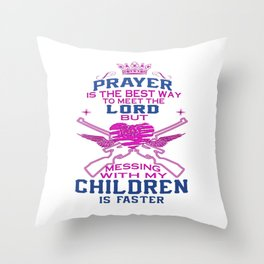 Messing with my Children Throw Pillow