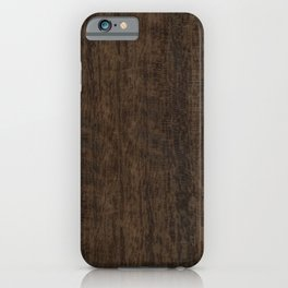Smoked Etimoe Wood iPhone Case