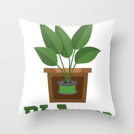 3D Printing PLAnted Funny 3D Print Filament Gardening Gift design Throw Pillow