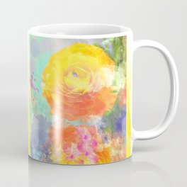 Artistic painterly Floral design with Ranonculus flower Coffee Mug