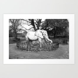 Elephant in the park Art Print