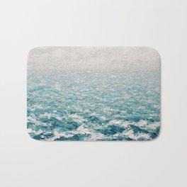 White Caps Bath Mat