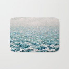 White Caps Bath Mat