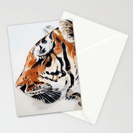 TIGER IN WATERCOLOR Stationery Cards