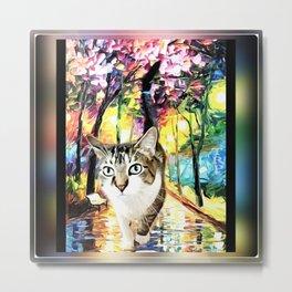 Cat Models 05: PJ 04 Metal Print