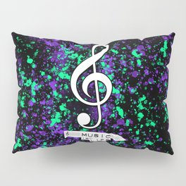 """Music is Life (""""Looking for Treble"""") Pillow Sham"""