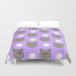 Kai - British shorthair cat gifts for cat lovers and cat lady gifts.  Cat people gifts Duvet Cover