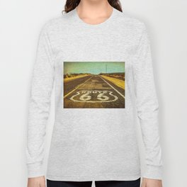 Route 66 Road Marker Long Sleeve T-shirt