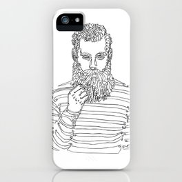 Beard Man with a Pipe iPhone Case