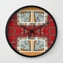Partial Windows & Brick Tiles (Abstract / Tiles) Wall Clock