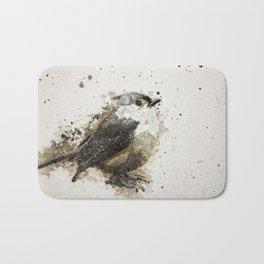 Tufted Titmouse Bird Splatter Bath Mat