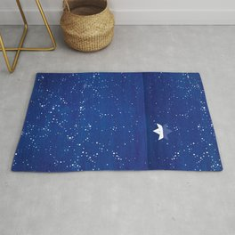Zen sailing, ocean, stars Rug