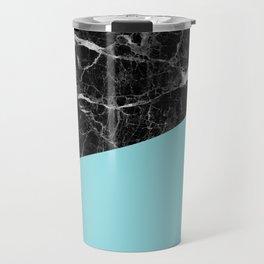 Black Marble and Island Paradise Color Travel Mug
