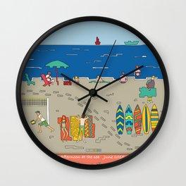 Afternoon at the sea Wall Clock