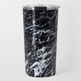 Real Marble Black Travel Mug