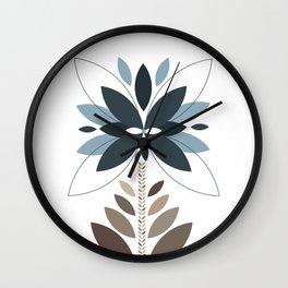 Be unique - Retro flowers Wall Clock