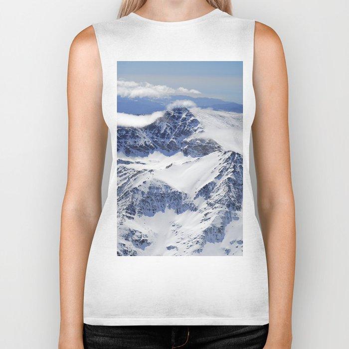 """Big mountains"". Aerial photography Biker Tank"