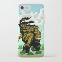 iron giant iPhone & iPod Cases featuring GIANT by Aaron Rossell