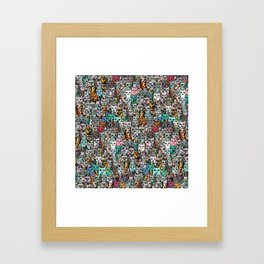 Gemstone Cats Framed Art Print