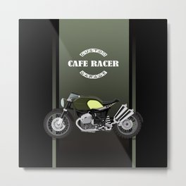 vintage motorcycle poster vector illustration Metal Print