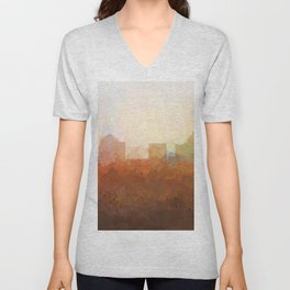 Greensboro, NC Skyline  - In the Clouds Unisex V-Neck