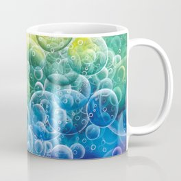 Rainbow of Impact Bubbles Coffee Mug