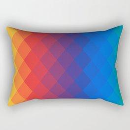 Polygonal rainbow Rectangular Pillow