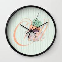 chill Wall Clocks featuring Chill by brocoli art print