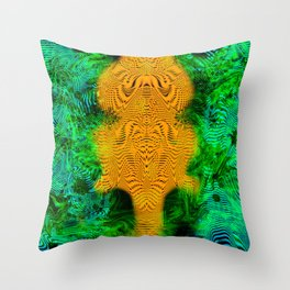 Camel Man (psychedelic, op art, halftone, abstract) Throw Pillow