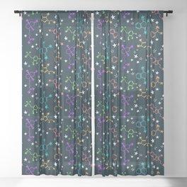 Molecule Galaxy Sheer Curtain