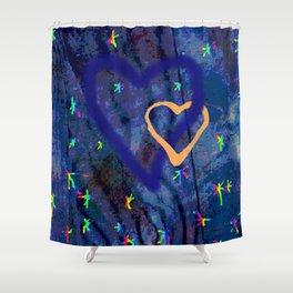 Star rainbow Shower Curtain