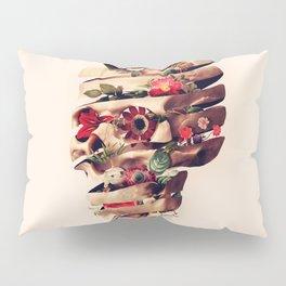 Peeled Skull Pillow Sham