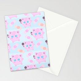 Jigglypuff pattern Stationery Cards
