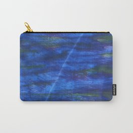 Indigo abstract watercolor background Carry-All Pouch