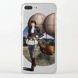 Flight of Fancy (Steampunk) Clear iPhone Case