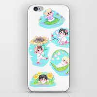 shinee iPhone & iPod Skins featuring SHINee Flowers by sophillustration