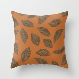 Autumn leaves in rust and brown Throw Pillow